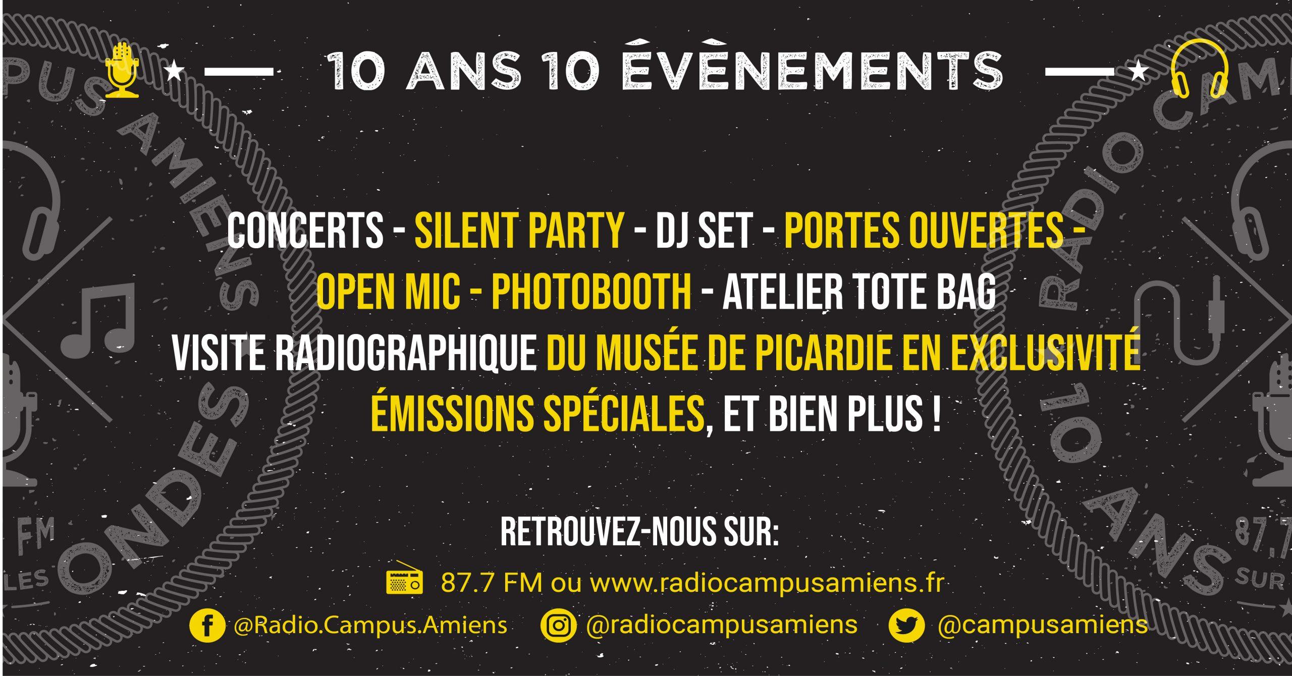 Les 10 ans de Radio Campus Amiens !